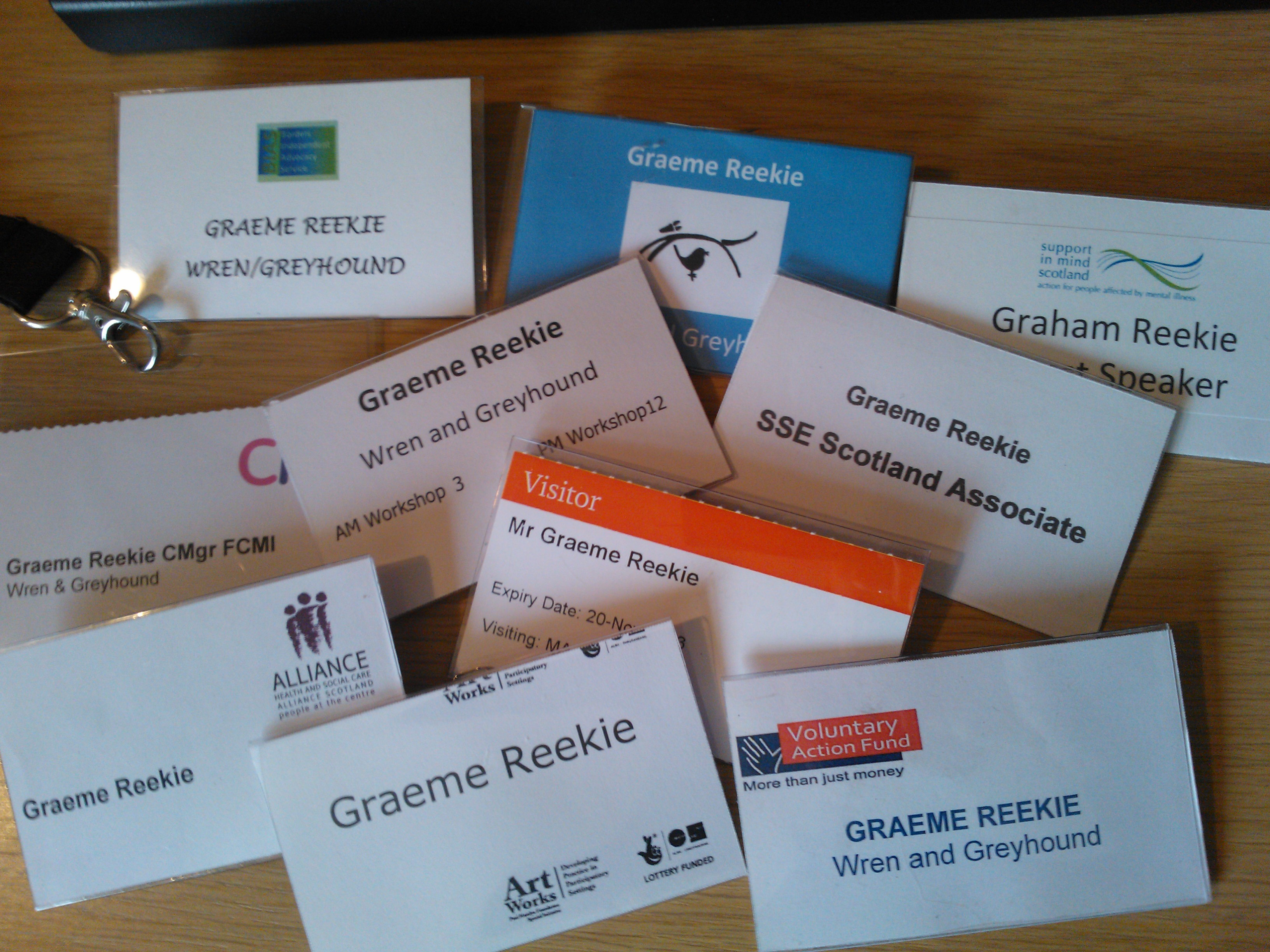 Name badge collection 2014